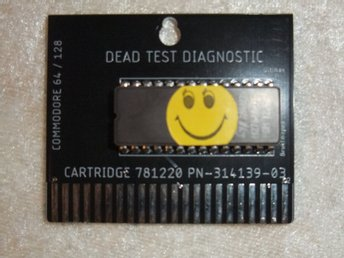 Commodore 64 Dead Test Diagnostic Cartridge rev 781220 + 3D printet case!