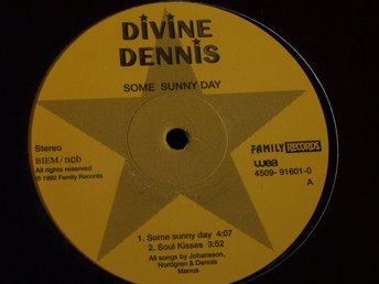 "DIVINE DENNIS - SOME SUNNY DAY 12"" 1992 PROMO SWE"