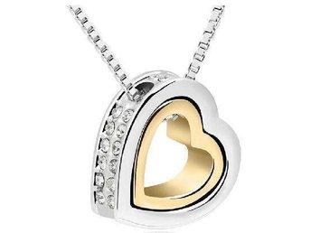 Elegant silver- och guldpläterad halsband O11 - Nannestad - Elegant silver- och guldpläterad halsband O11 - Nannestad