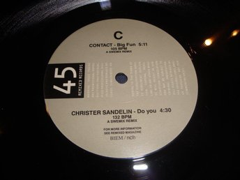 "CONTACT / CHRISTER SANDELIN 12"" PROMO / TEST PRESSNING"