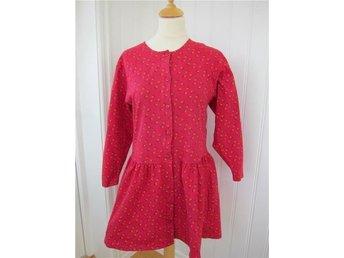 Claire Fin röd småblommig klänning i tjock trikå storlek S - Fotö - Claire Fin röd småblommig klänning i tjock trikå storlek S - Fotö