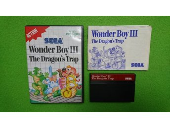 Wonderboy 3 The Dragons Trap KOMPLETT Sega Master System 8-bit dragon's