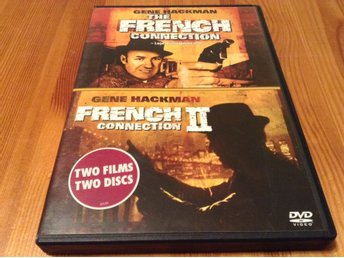 The French connection 1 & 2 - Gene Hackman - Svensk text - Repfria DVD-skivor
