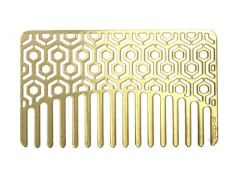 Go Comb Brass Hexagon