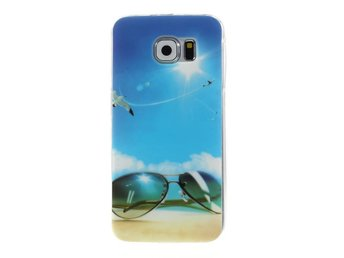 TPU Skal Samsung Galaxy S6 - Blue Sky and Glasses