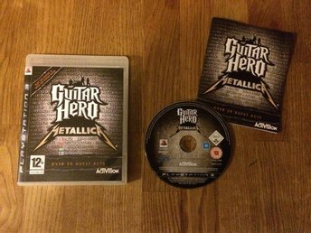 GUITAR HERO METALLICA  PLAYSTATION 3 PS3 BRA SKICK