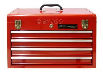 Steel Tool Box Portable / 4 Drawers with Lock - 20 ""
