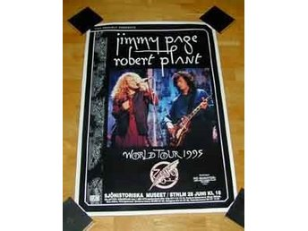 JIMMY PAGE & ROBERT PLANT TURNÉAFFISCH 1995