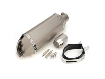 Titanium 38-51mm Stainless Steel Motorcycle Exhaust Muffl...