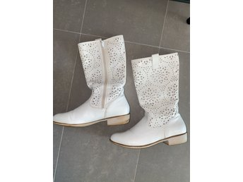 Anna Field vit boots boho