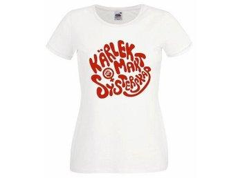 Kärlek, makt och systerskap, dam t-shirt, M, feminism, feminist, punk, retro - Malmö - Kärlek, makt och systerskap, dam t-shirt, M, feminism, feminist, punk, retro - Malmö