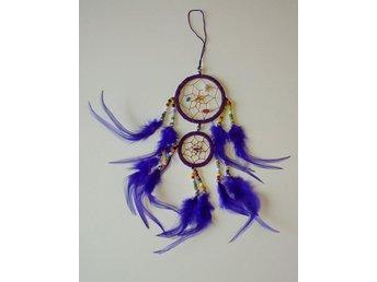 Liten lila drömfångare med pärlor i olika färger, 2 cirklar, 6 cm - Borås - Liten lila drömfångare med pärlor i olika färger, 2 cirklar, 6 cm - Borås