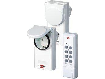 Brennenstuhl fjärrstyrd strömbrytare för utomhusbruk, 2-pack, vit - Höganäs - Brennenstuhl fjärrstyrd strömbrytare för utomhusbruk, 2-pack, vit - Höganäs