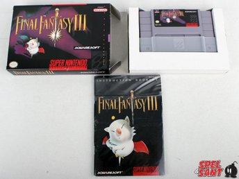 Final Fantasy III (3) (inkl. Skyddsbox & Amerikansk Version) - Norrtälje - Final Fantasy III (3) (inkl. Skyddsbox & Amerikansk Version) - Norrtälje