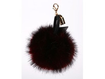 Hpi Of Sweden Handbag Decoration Fake Fur Burgundy - Mölndal - Hpi Of Sweden Handbag Decoration Fake Fur Burgundy - Mölndal