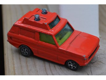 Range Rover Police (Corgi Juniors) Made in GT.Britain Röd Metallic