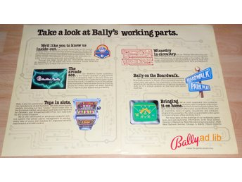 BALLY - MAKES THE GAMES PEOPLE PLAY, STOR TIDNINGSANNONS 1979