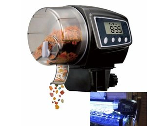 Automatisk DIgital Fiskmatare Automatic Fish Feeder Timer Food Feeding EU-lager