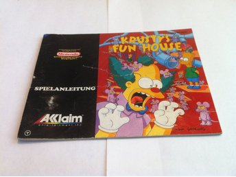NES: Manualer: Krusty's Fun House (End. manual - Tysk)