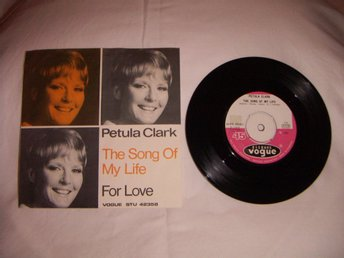 vinyl 45 rpm Petula Clark - The song of my life + 1