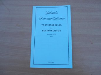 FOLDER - GOTLANDS KOMMUNIKATIONER - TÅG- BUSSLISTOR