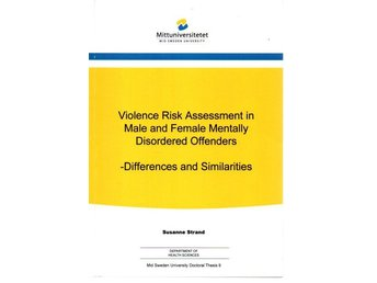 Susanne Strand: Violence Risk Assessment in Male and Female