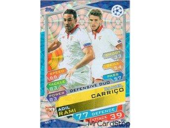2016-17 Topps Champions League NE SEV18 Daniel Carrico / Adil Rami Sevilla FC - Linghem - 2016-17 Topps Champions League NE SEV18 Daniel Carrico / Adil Rami Sevilla FC - Linghem