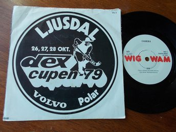 "CAMERA - When I Thought/Dex, Dex-Cupen Ljusdal Bandy, 7"" Wig Wam 1979"
