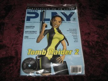 SUPER PLAY NY MED CD AUG 1997 TOMB RAIDER 2 RETRO