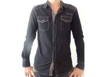 Designer skjorta från Thailand, svart med grå detaljer - Linkoping - Designer skjorta från Thailand, svart med grå detaljer - Linkoping