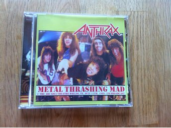 Anthrax - Metal Thrashing Mad - Live 89, FM Broadcast (CD)