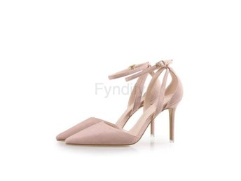 Damsko Pumps Concise Nude Suede High 8cm 2 Size 37.5