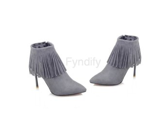 Dam Boots Ladies Brand Tassel Wedding Heels Shoes Gray 40