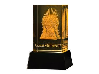 Game of Thrones 3D LED Glass Etching Iron Throne 8 cm