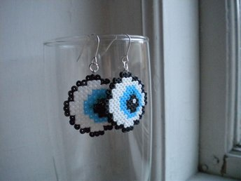 Eyeball Ögon Örhängen ¤ Pixel Art ¤ Kawaii ¤ DIY ¤ Geek ¤
