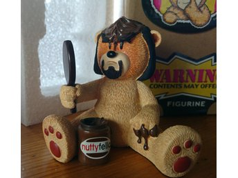 "Fynd! One-of-a-kind! Ny! Bad Taste Bears figurine ""Kirk"". Snabb frakt!"