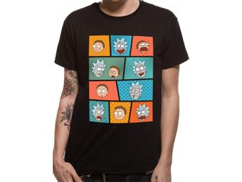 RICK & MORTY - POP ART FACES (UNISEX)  T-Shirt - Extra-Large