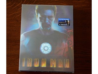 IRON MAN BLUFANS Exclusive #20 Steelbook numbered.
