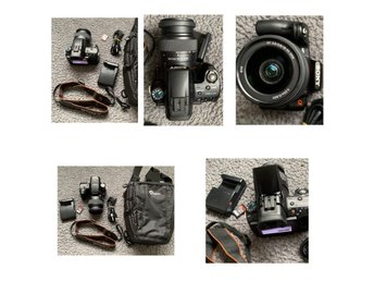 Sony Alpha SLT-A55V+32 GB+Laddare+USB Kable+väska+SAL 18-55mm 3.5-5.6 DT SAM+GPS