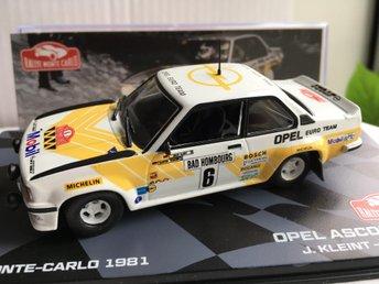 Wanger 1:43 Altaya Opel Ascona 400 #6 3rd Rallye Monte Carlo 1981 Kleint
