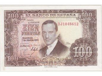 SPANIEN: 100 Pesetas 1953 ovikt - se beskrivning/bilder! - Vagnhärad - SPANIEN: 100 Pesetas 1953 ovikt - se beskrivning/bilder! - Vagnhärad