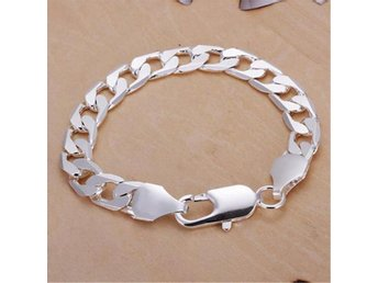 Armband figaro 8mm 20cm 925 sterling silver