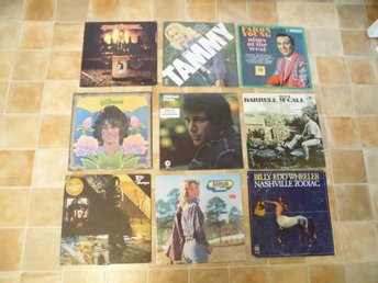 9 st Lp's. Div Country. Faron Young, Tammy Wynette mfl.