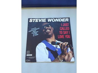 Stevie Wonder I Just Called To Say I Love You singel 1984 Motown