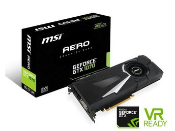 MSI GeForce GTX 1070 AERO 8G OC (GeForce GTX 1070 AERO 8G OC) - Solna - MSI GeForce GTX 1070 AERO 8G OC (GeForce GTX 1070 AERO 8G OC) - Solna