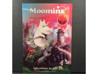 Mumin Moomin and the comet chase 3D kort