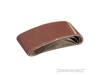 Silverline Sanding Belts 75 x 533mm 5pk 80 Grit belt sander