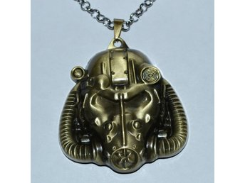 Hjälm Brotherhood of Steel, Power Armor Halsband (Fallout 3/4) Brons Ny