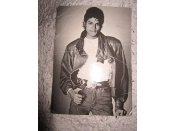MICHAEL JACKSON - FOTO  - PRINTED IN FRANCE -  10 kr - Se bilder