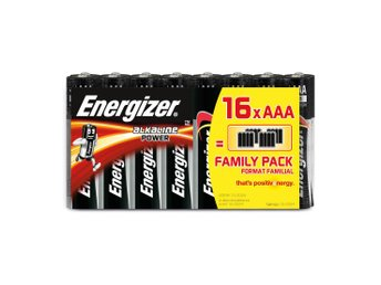 ENERGIZER Batteri AAA/LR03 Alkaline Power 16-pack Blister